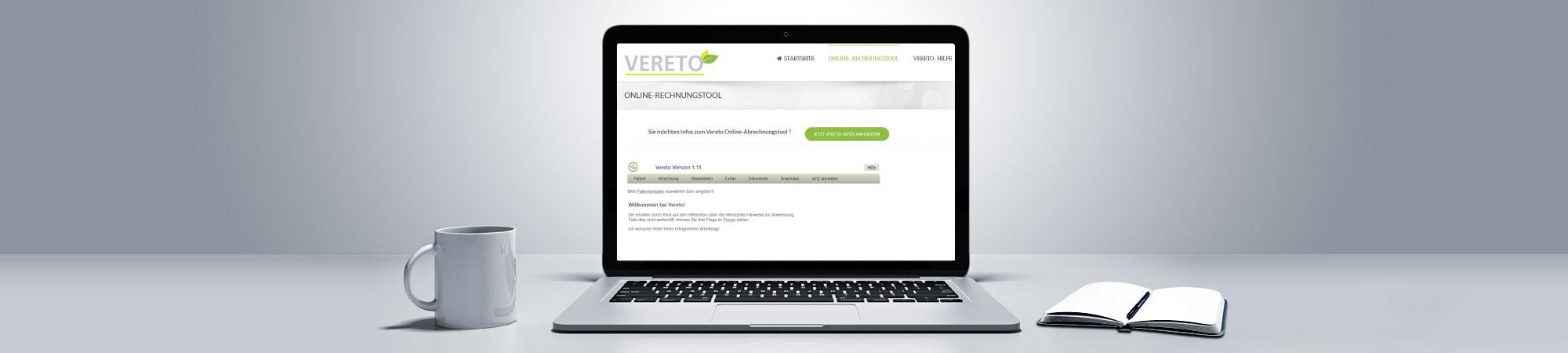 Vereto Online-Abrechnung Heilberufe